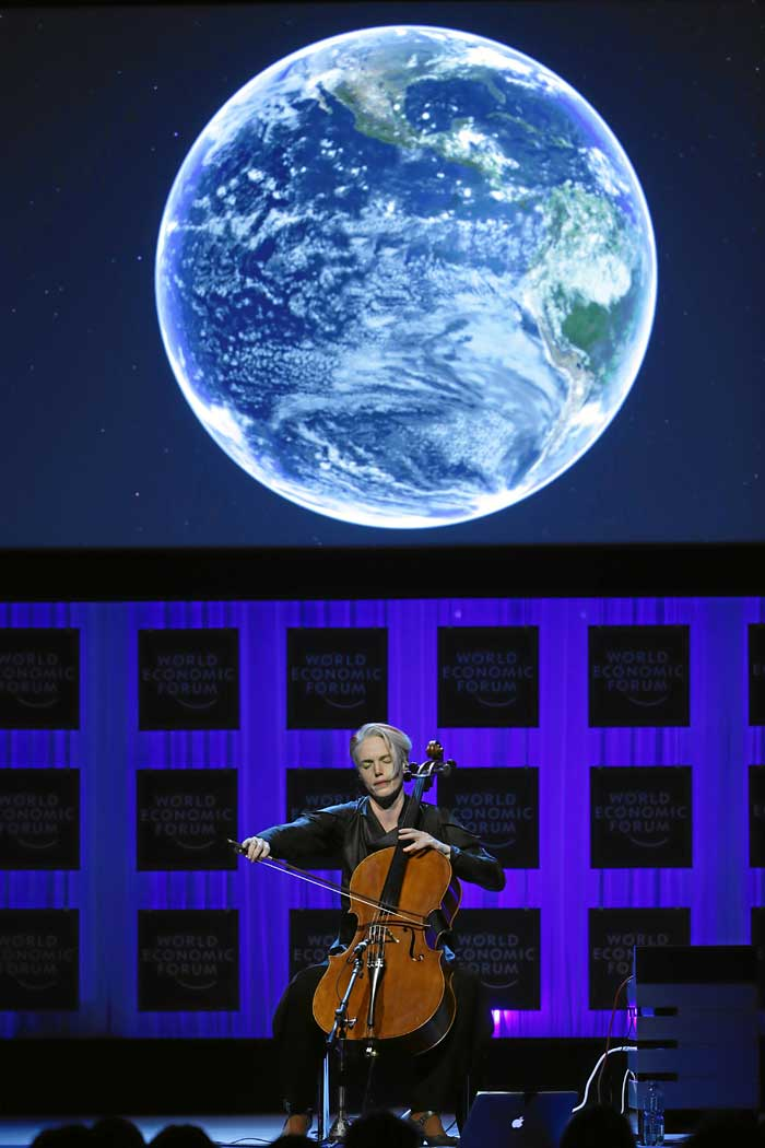 Zoë Keating performing at Davos, World Economic Forum - 25th January 2014