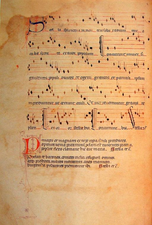 Stella Splendens - Llibre Vermell de Montserrat (1399) - Source: http://cervantesvirtual.com/
